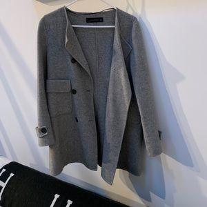 Women's Zara Peacoat Grey